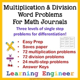Multiplication Word Problems or Division Word Problems For Math Problem Solving