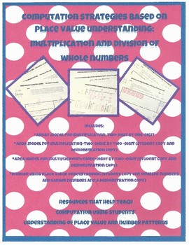 Multiplication and Division Strategies Based on Place Value Understanding