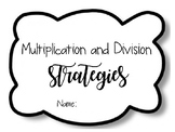 Multiplication and Division Strategies * Editable* SOL 3.6