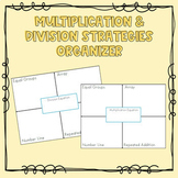 Multiplication and Division Strategies Organizer