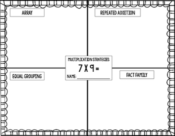 Multiplication and Division Strategy Graphic Organizer