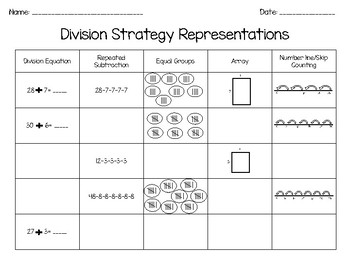 Multiplication and Division Strategy Practice!