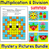 Summer Activities Multiplication and Division Hidden Pictu
