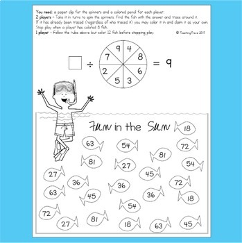 Summer - Multiplication and Division