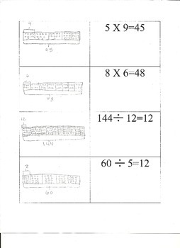Multiplication and Division-Tape Diagrams