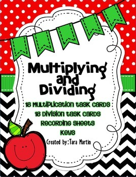 Multiplication and Division Task Card Sets {18 each}