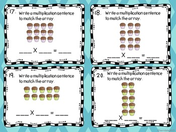 Multiplication and Division Task Cards -NYS Engage NY grade 3 Math Module 1.