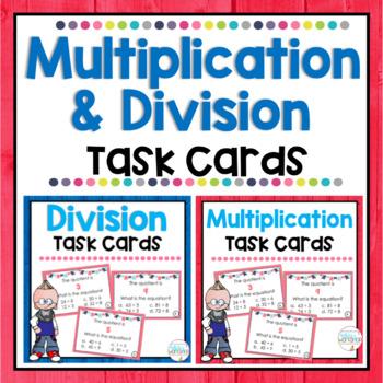 Multiplication and Division Task Card BUNDLE