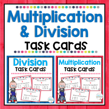 Multiplication and Division Task Card BUNDLE