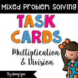 Multiplication and Division Task Cards (2nd-4th) TEKS Aligned