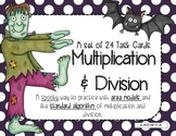 Multiplication and Division Task Cards (Area Models and th