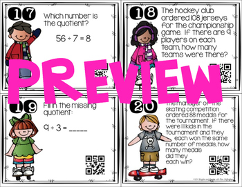 Multiplication and Division Task Cards Bundle