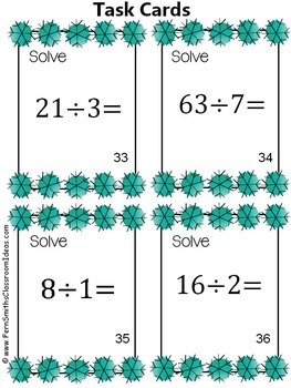 Winter Multiplication and Division Task Cards Bundle
