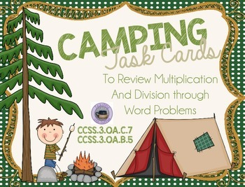 Multiplication and Division Task Cards: Camping Theme