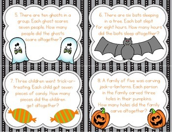 Multiplication and Division Task Cards - Halloween Themed!