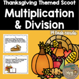 Multiplication and Division Task Cards {Thanksgiving Themed}