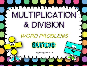 Multiplication and Division Task Cards -- Word Problems BUNDLE!