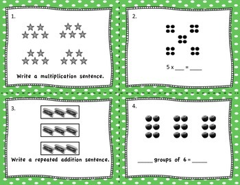 Multiplication and Division Task Cards for X2, 3, 4 ,5 and 10