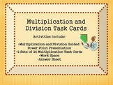 Multiplication and Division Task cards and Power Point Activity