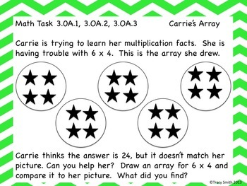 Multiplication and Division Tasks!  Common Core Aligned!