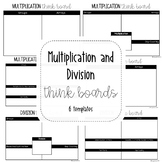 Multiplication and Division Think Boards