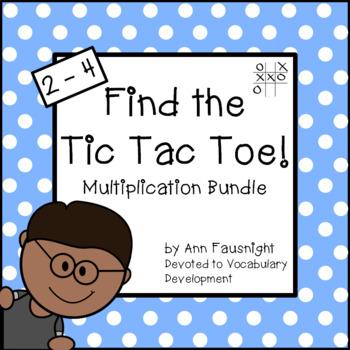 Multiplication and Division Tic Tac Toe Bundle