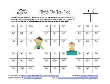 Multiplication and Division Tic Tac Toe Bundle Pack