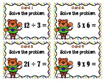 Multiplication and Division Tiger Scoot - Set 1