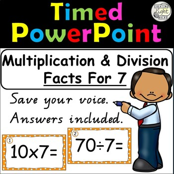 Multiplication and Division Timed PowerPoint 7 Times Tables & Division Facts