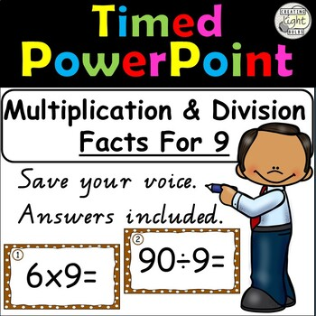 Multiplication and Division Timed PowerPoint 9 Times Tables & Division Facts