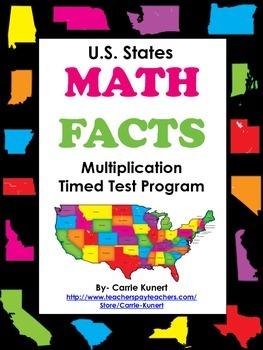 Multiplication and Division Timed Test U.S. Passport Bundl
