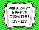 Multiplication and Division Timed Tests