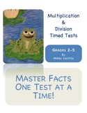 Multiplication and Division Timed Tests with Road Map