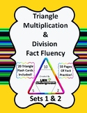 Multiplication and Division Triangle Fact Fluency Sets One