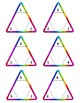 Multiplication and Division Triangle Flash Card Fact Fluency Complete Set