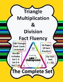 Multiplication and Division Triangle Flash Card Fact Fluen