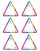 Multiplication and Division Triangle Flash Card Fact Fluency Sets 3 - 6