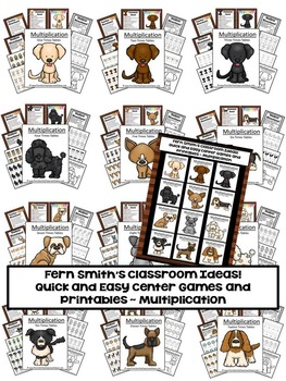 Math Center Games - Quick and Easy to Prep For Multiplication and Division