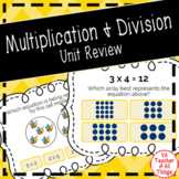 Multiplication and Division Unit Review Boom Cards Distanc
