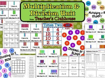 Multiplication and Division Unit from Teacher's Clubhouse