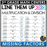 Winter Multiplication and Division Unknown Factors Game