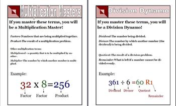 Multiplication and Division Visuals