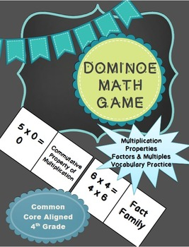 Multiplication and Division Vocabulary Game (Domino Style)