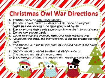 Multiplication and Division War-Christmas Theme-Common Core Aligned