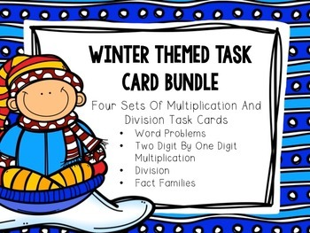Multiplication and Division Winter Themed Task Cards