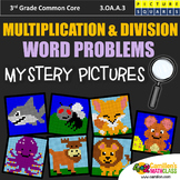 3rd Grade Multiplication and Division Word Problems Mystery Pictures Worksheets