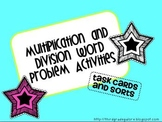 Multiplication and Division Word Problem Activities