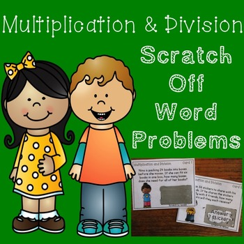 Multiplication and Division Word Problem Game {Scratch Off Cards}