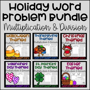 Multiplication and Division Word Problems {Holiday Bundle}