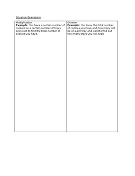 Multiplication and Division Word Problem Mini-Lesson